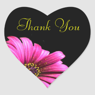 Pretty Daisy Thank You Favor Label Stickers