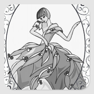 Pretty Dancer Square Sticker
