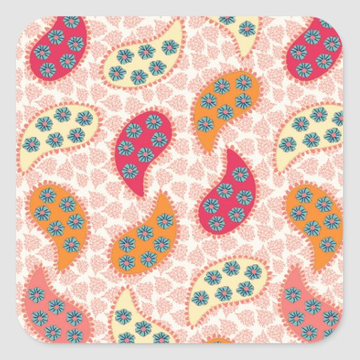 Pretty Dancing Paisley Stickers