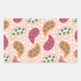 Pretty Dancing Paisley Rectangular Sticker