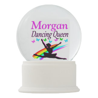 PRETTY DANCING QUEEN PERSONALIZED SNOW GLOBE