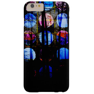 Pretty Dark Blue and Pink Polka Dot Abstract Barely There iPhone 6 Plus Case