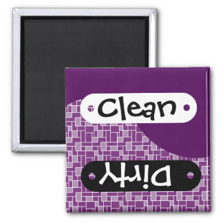 Pretty Dark Purple Clean Dirty Dishwasher Magnet