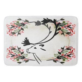 Pretty deer flower fancy Victorian  Bathroom mat