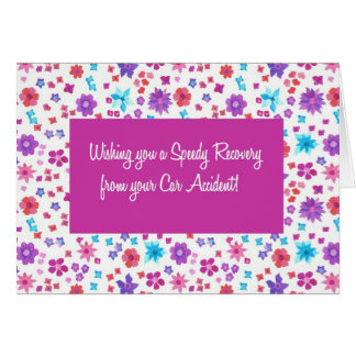 Pretty Ditsy Floral Get Well from Car Accident Card