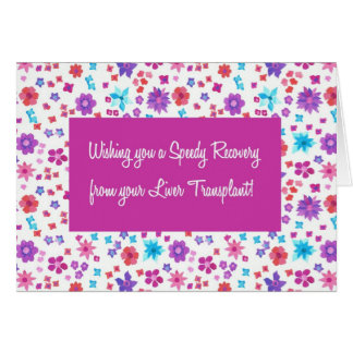 Pretty Ditsy Floral Get Well from Liver Transplant Card