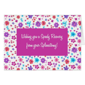 Pretty Ditsy Floral Get Well from Splenectomy Card