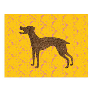 Pretty dog design postcard