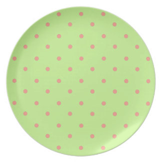 Pretty-Dottie(c)_New-Green_Coral_Dots Plate