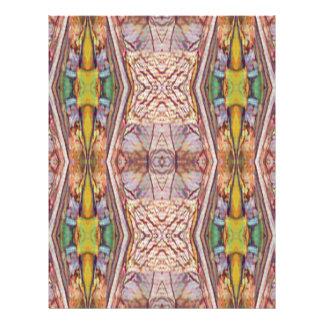 Pretty Dusty Rose Artistic Pattern Letterhead Design