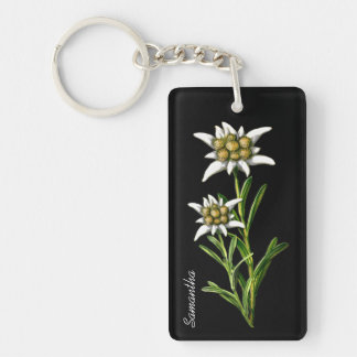 Pretty Edelweiss Flower Custom Key Chain