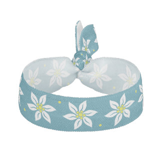 Pretty Edelweiss Flower Head Band Hair Tie