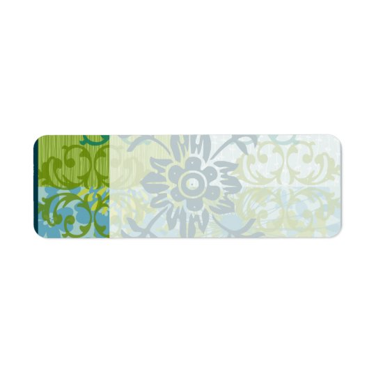 Pretty Elegant Blue Green Floral Damask Pattern