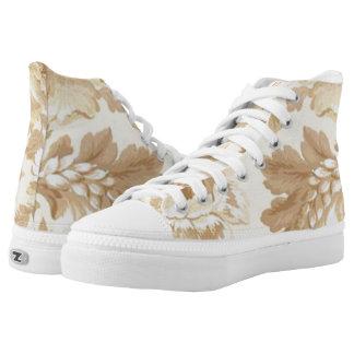 Pretty Elegant Leaf Pattern Shoes