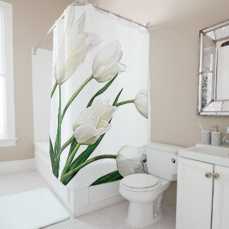Pretty Elegant White Dutch Tulips Flowers