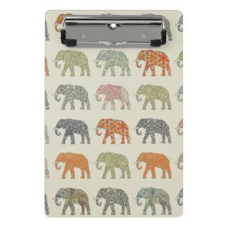 Pretty Elephant Pattern Colorful Mini Clipboard