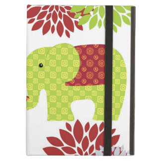 Pretty Elephants in Love Holding Trunks Flowers iPad Air Cover