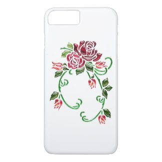 Pretty Embossed Glass Roses iPhone 8 Plus/7 Plus Case