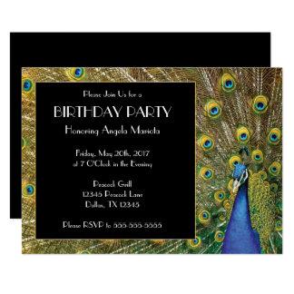 Pretty Exotic Peacock Photo Birthday Card