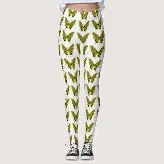 Pretty-Fabrics'_'Olive-Butterfly -LEGGING'S_XS-XL Leggings