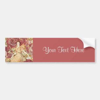 Pretty Fairy Nymph in Roses Bumper Sticker