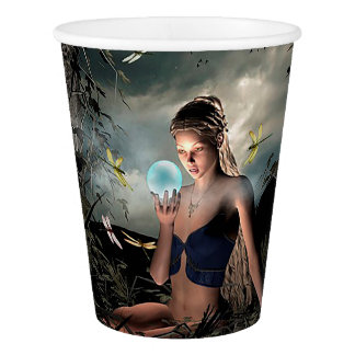 Pretty Fairy Tale Full Moon Crystal Ball Paper Cup
