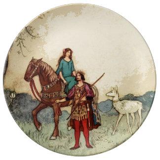 Pretty fairytale horse plate porcelain plate