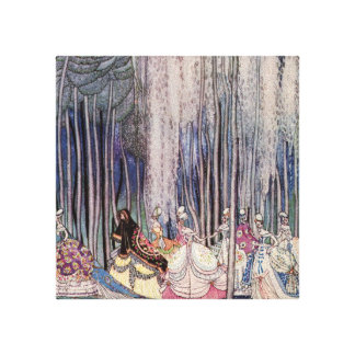 Pretty Fairytale Princess Canvas Wall Art