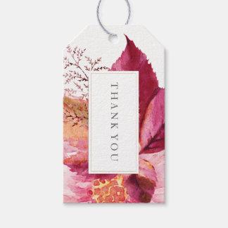 Pretty Fall Dahlia Wedding Favor Gift Hang Tag