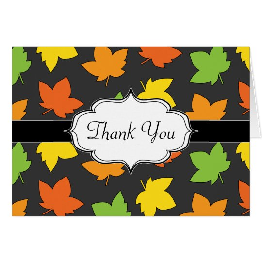Pretty Fall Foliage Autumn Harvest Pattern Card