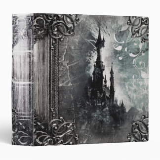 Pretty Fantasy Castle Ancient Tome Magic Book 3 Ring Binder