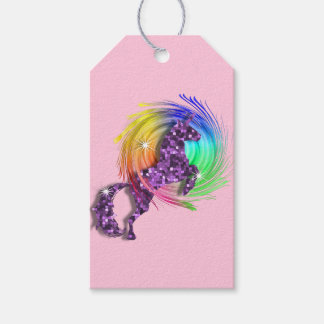 Pretty Fantasy Rainbow Unicorn Personalized Pack Of Gift Tags