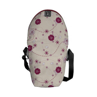 Pretty Feminine Floral Pattern Commuter Bags