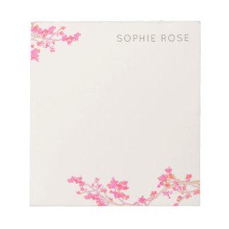 Pretty Feminine Pink Floral Notepad