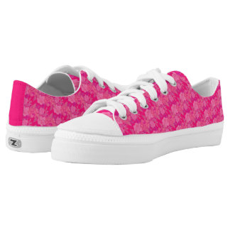 Pretty Femme Floral Pink Low-Top Sneakers