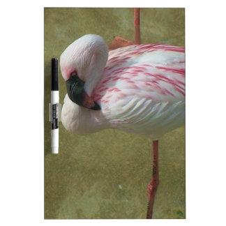 Pretty Flamingo Dry Erase White Board