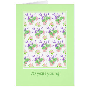 Pretty Floral 70th Birthday Greeting