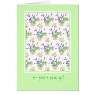 Pretty Floral 97th Birthday Greeting Card