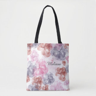 Pretty Floral All-Over-Print Tote Bag