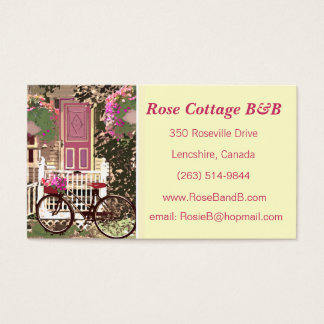 Pretty Floral  Bed & Breakfast / Cottage Rental Business Card