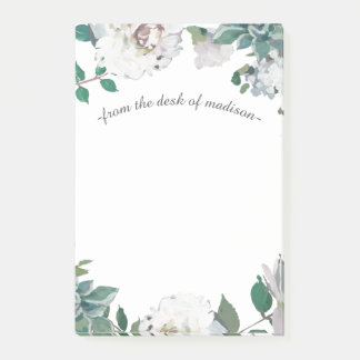 Pretty Floral Botanical and Name Post-it Notes