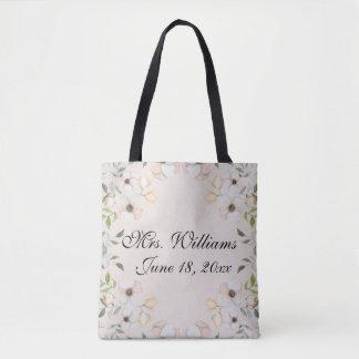 Pretty Floral Bride Custom Tote Bag