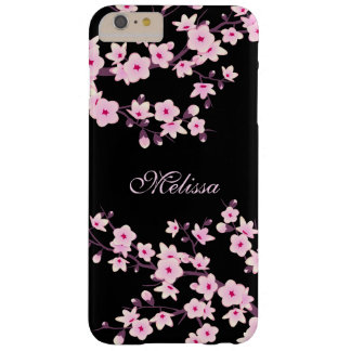 Pretty Floral Cherry Blossoms Monogram Barely There iPhone 6 Plus Case