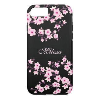 Pretty Floral Cherry Blossoms Monogram iPhone 8/7 Case