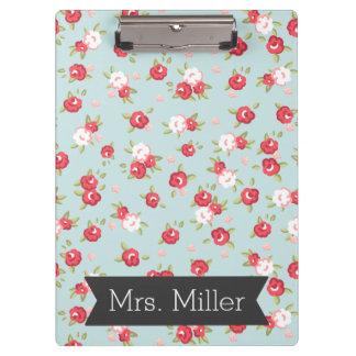 Pretty Floral Clipboard - Personalize