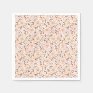 Pretty Floral Disposable Napkins
