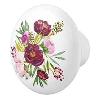 Pretty Floral Flowers Designer Ceramic Knob