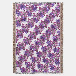 Pretty Floral Flowers Shabby Chic CricketDiane Throw Blanket
