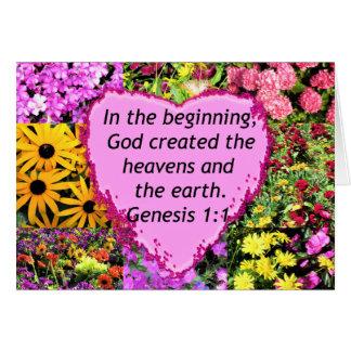 PRETTY FLORAL GENESIS 1:1 PHOTO DESIGN CARD