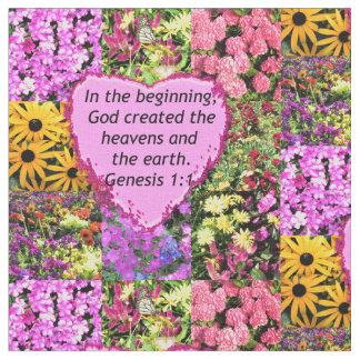 PRETTY FLORAL GENESIS 1:1 PHOTO DESIGN FABRIC